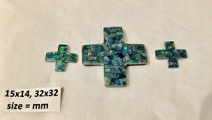 15x14mm / 32x32mm Cross