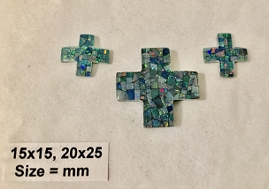 15x15mm / 25x20mm Cross