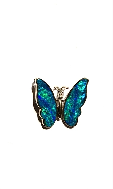 Rare and Beautiful Opal Winged Butterfly Pin / Pendant - One of a kind!