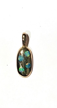 14k Opal Inlay Pendant