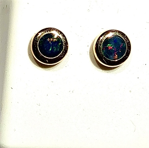 14k Opal Earrings - 5mm