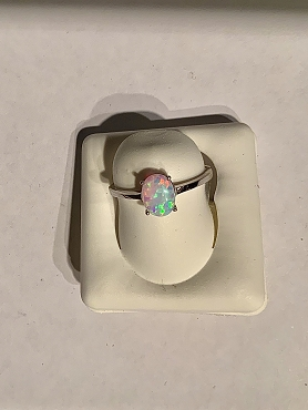 Sterling Silver Opal Cab Ring