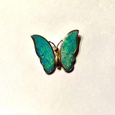 Rare and Beautiful Opal Winged Butterfly Pendant - One of a kind!