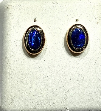 14k Opal Earrings - 6x4mm