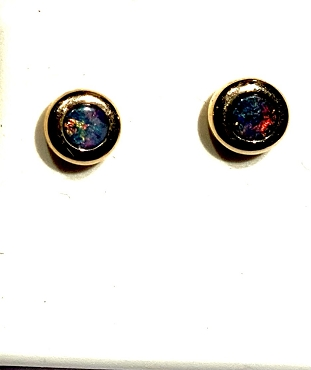 14k Opal Earrings - 4mm