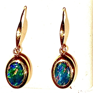 OI Dangle Earrings - 14KY Gold